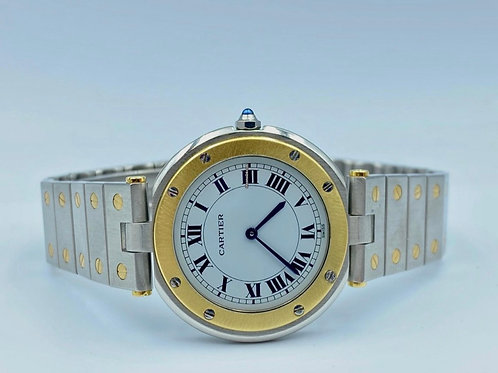 Cartier Santos Ronde Gold/Steel 33mm With Box & Papers