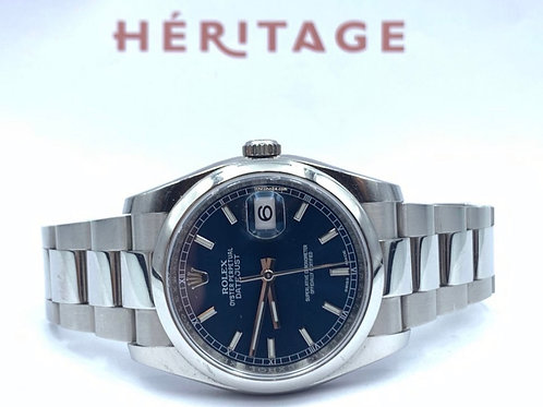Rolex Datejust 36mm steel blue dial from 2018 with box & papers