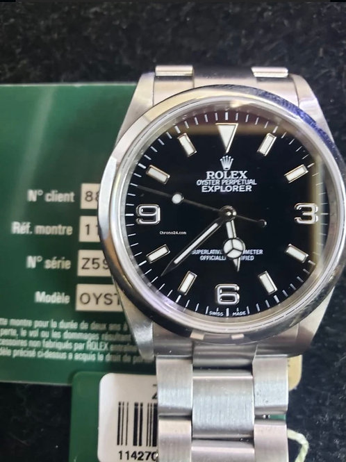 Rolex Explorer 36mm Z serial with card from 2006, box & papers + tag