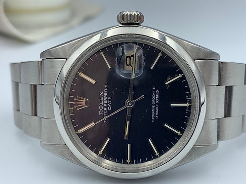 Rolex Oyster Perpetual Date 34mm blue index dial 1969