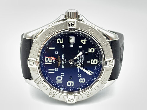 Breitling Superocean Automatic steel rubber strap 40mm 2003 box & papers