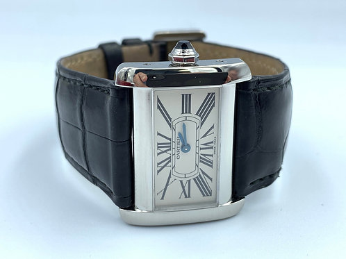 Cartier Tank Divan steel from 2007 with box & papers