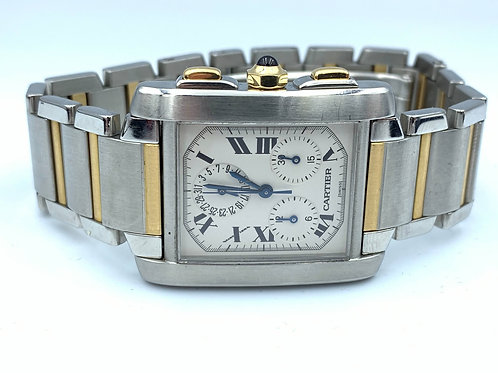 Cartier Tank Française chronoflex gold/steel 2007 box & papers