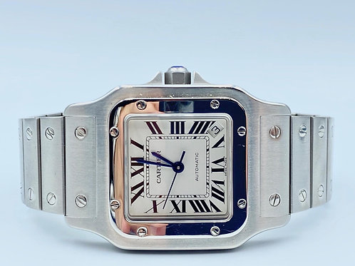 Cartier Santos Galbee large stee 2012 box & papers