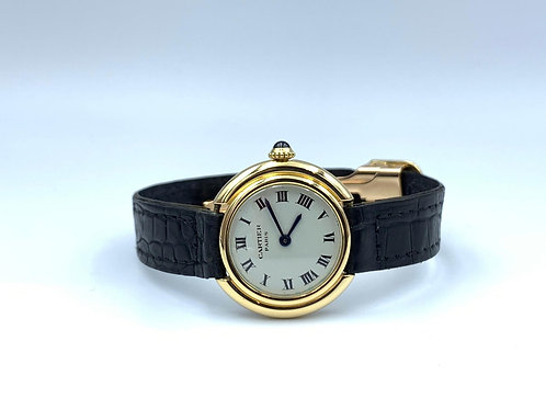 Cartier Vendome manual wind 18k yellow gold folding clasp