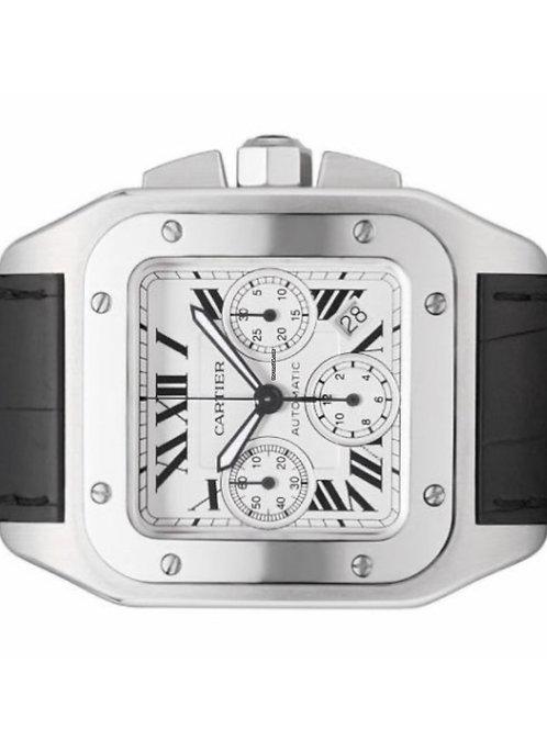 Cartier Santos 100 XL Chronograph 2012 box & papers