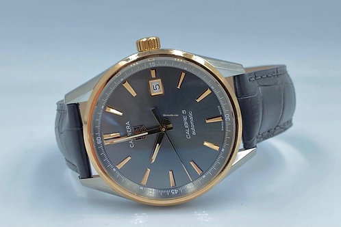 TAG Heuer Carrera Calibre 5 rose gold/steel new in stickers, no papers