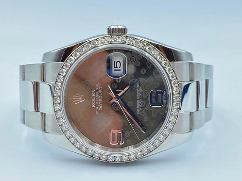 Rolex Datejust 36mm steel diamond bezel & dial, 2014 box & papers