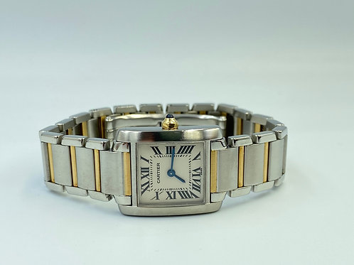 Cartier Tank Française gold steel 2011 box & papers