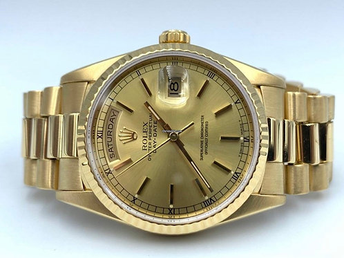 Rolex Day-Date President yellow gold 36mm double quick from 1990's