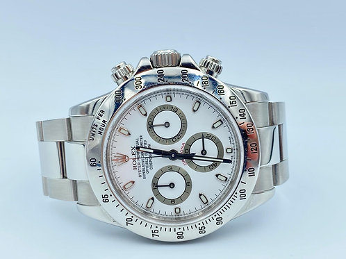 Rolex Daytona steel white dial 2009 box & papers