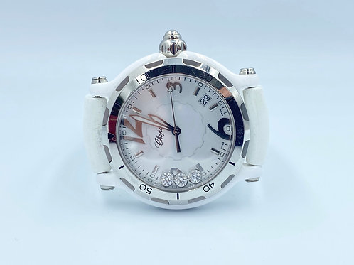 Chopard Happy Sport limited 3 diamonds ceramic 37mm