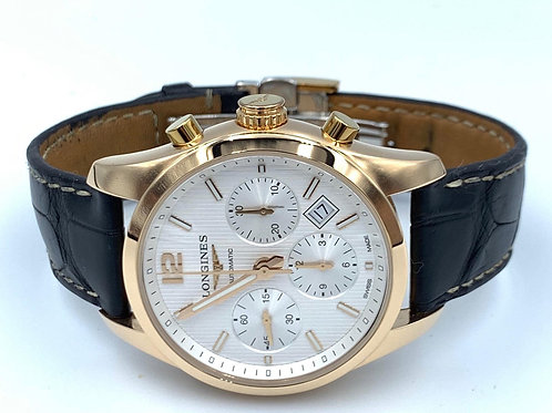 Longines Conquest Classic 41mm Rose gold automatic from 2018 box & papers