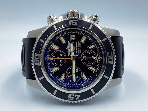 Breitling Superocean Chronograph II black new full set 07/2020