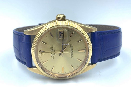 Rolex Oyster Perpetual Date Yellow Gold 34mm Plexi glass from 1970's