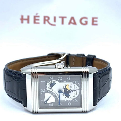 Jaeger-LeCoultre Reverso Sun & moon platinum limited edition from 2001 with pape