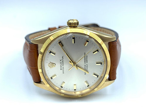 Rolex Oyster Perpetual 34mm 18k yellow gold box & papers from 1969 - ref 1003