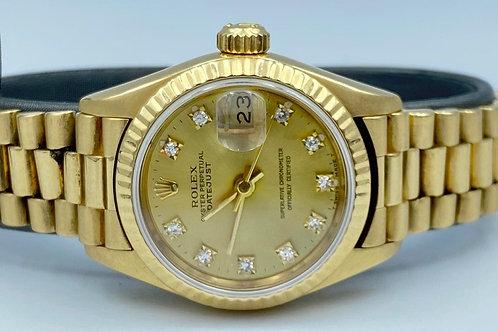 Rolex Lady-Datejust 26mm yellow diamond dial