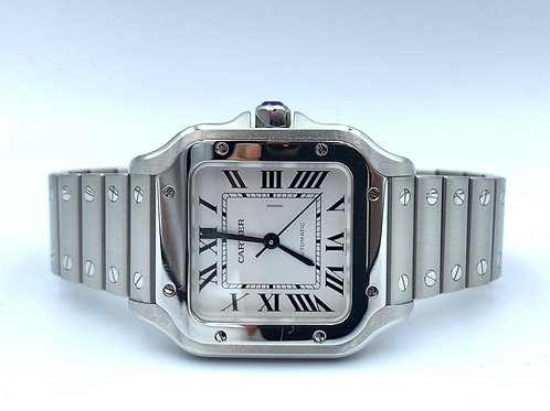Cartier Santos De Cartier steel, 2018 full set with 2 extra straps - extended wa