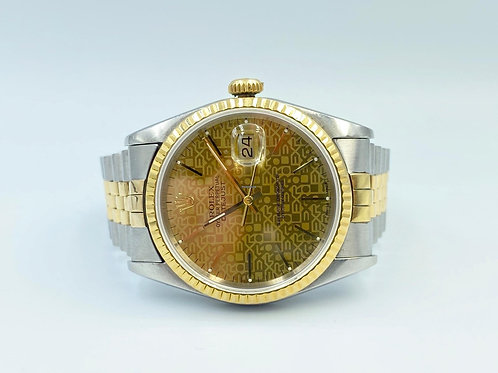 Rolex Datejust 36mm gold/steel jubilee 1993 box & papers no stretch