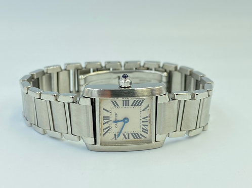 Cartier Tank Française steel lady from 2002 box & papers