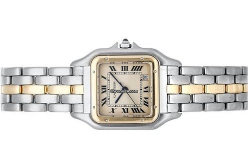 Cartier Panthere gold steel 27mm from 1988 with box & papers