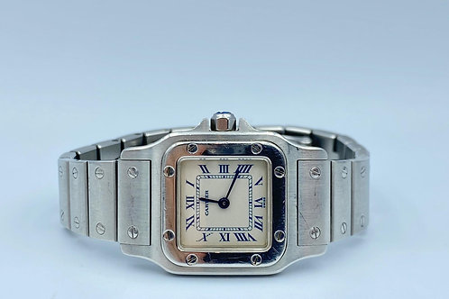 Cartier Santos Galbee steel 24mm from 2000 box & papers