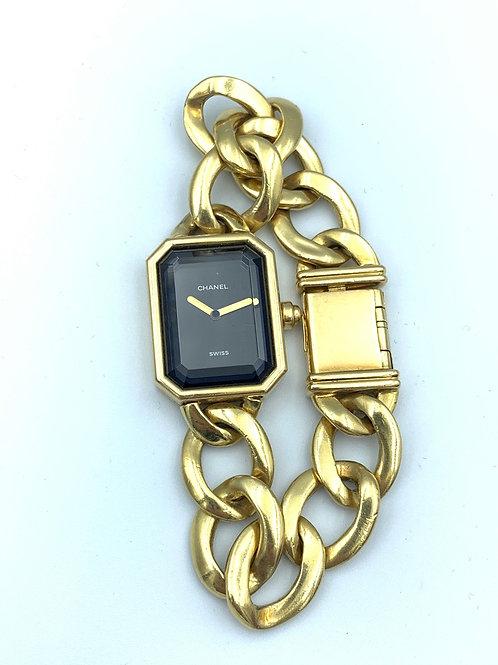 Chanel Première 1987 massive gold vintage in mint condtion