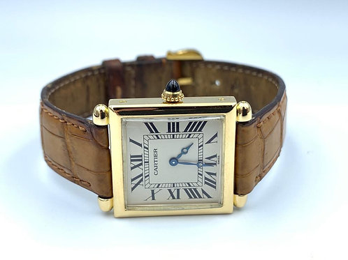 Cartier Tank Obus yellow gold box & papers from 1994