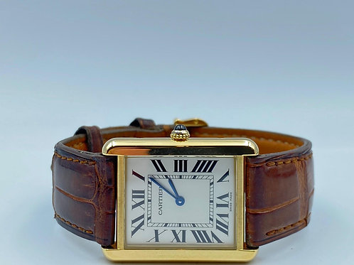 Cartier Tank Solo large model yellow gold/steel from 2004 box & papers