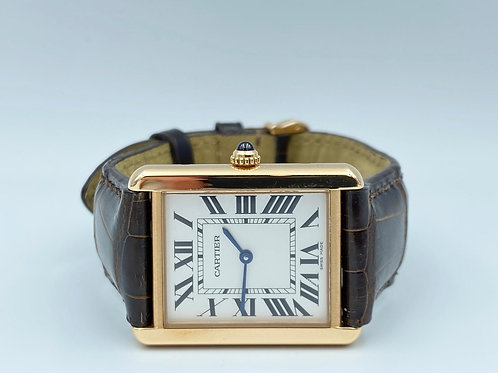Cartier Tank Solo Large rose gold/steel 2014 box & papers