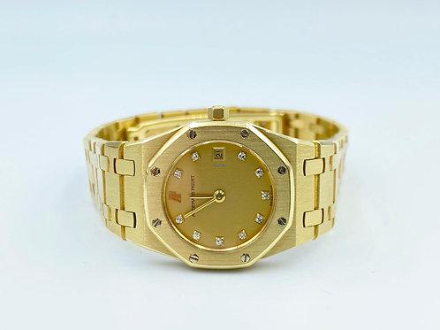 Audemars Piguet Royal Oak Lady 18k yellow gold diamond dial -25mm circa 90's