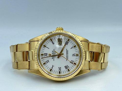 Rolex Oyster Perpetual Date 34mm 18k yellow gold Rivet - from 1988