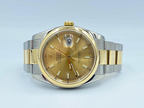 Rolex Datejust 36mm gold/steel from 2005 - NO papers