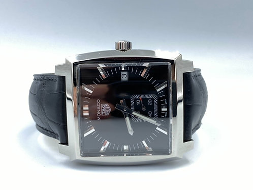TAG Heuer Monaco Lady steel with crocodile strap NEW with stickers