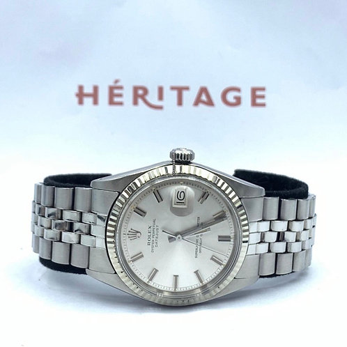 """Rolex Datejust 36mm Rivet """"wide boy"""" from 1969 with box & papers"""