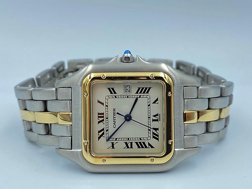 Cartier Panthère big gold/steel size from 1995 with box & papers