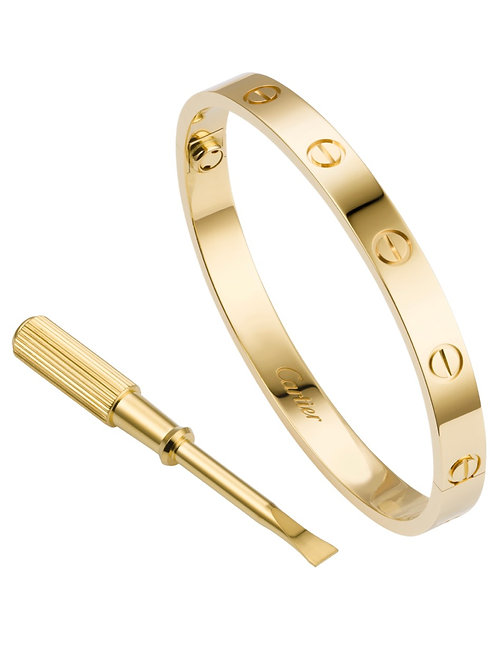 Cartier Love bracelet Yellow gold size 17 box & papers