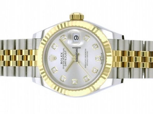 Rolex Lady-Datejust 28mm factory diamond dial from 2020 box & papers