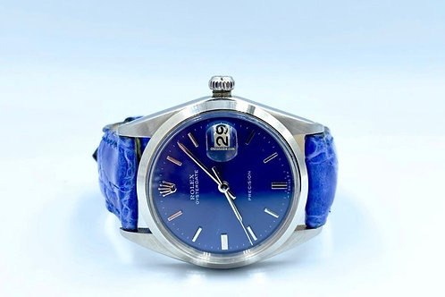 Rolex Precision blue dial & blue crocodile from 1969