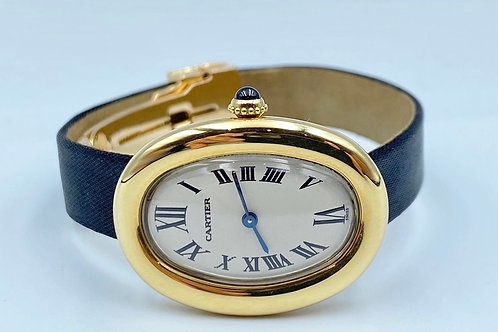 Cartier Baignoire yellow gold 1991 box & papers