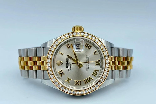 Rolex Datejust 28mm gold / steel diamond bezel 2019 NO PAPERS