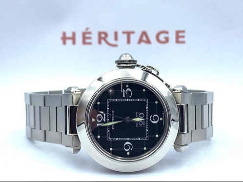 Cartier Pasha C big date 35mm from 2009 box & papers