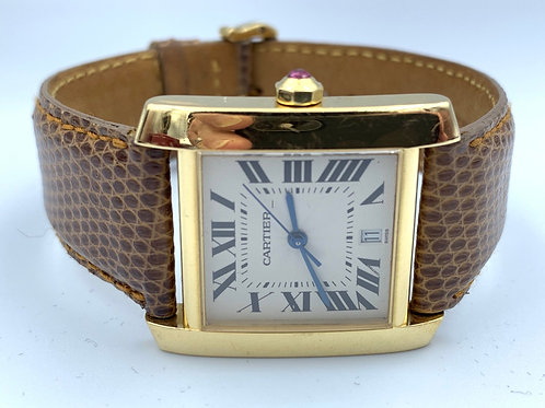Cartier Tank Française yellow gold 2007 box & papers