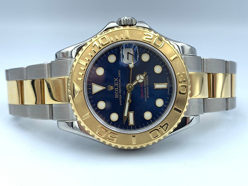 Rolex Yacht-Master 35mm blue dial 2011 box & papers 168623