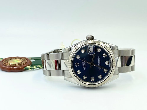 Rolex Lady-Datejust 31mm steel factory diamond dial 2013 box & papers