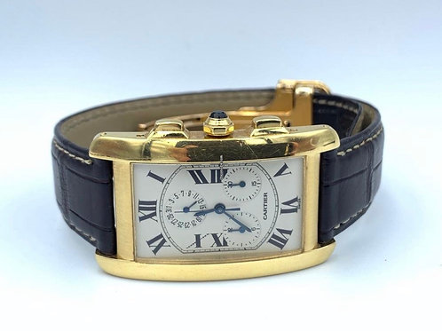 Cartier Tank Americaine 18k Yellow Gold with box & papers