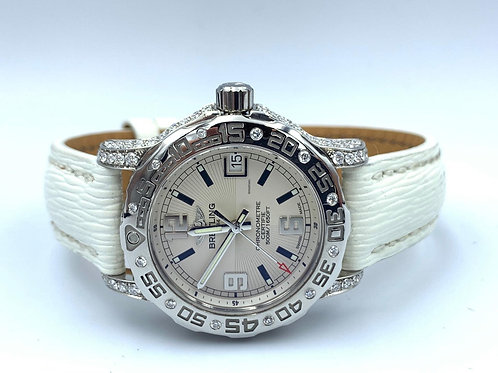 Breitling Colt Lady box & papers 2013 with diamonds