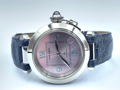 Cartier Pasha C light pink dial from 2000 with box & papers