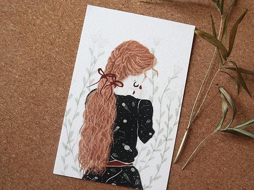 Ginger girl Art Print